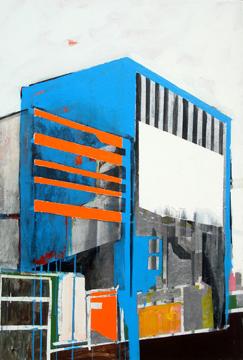 """Untitled II, from the Fragmentos de isla series, 2008, mixed medium on canvas, 52"""" x 48"""", colección Cabán Ignacio."""