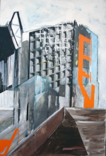 """Untitled IV, from the Fragmentos de isla series, 2008, mixed medium on canvas, 52"""" x 48"""""""