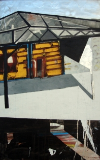 "Untitled IV, from the Fragmentos de isla series, 2008, mixed medium on canvas, 52"" x 48"", colección Candelaria Estrella."