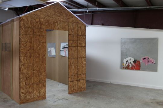 Installation view, Land Escapes, Área: Lugar de Proyectos, Caguas, Puerto Rico