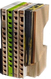 Reused Northern Trends, 2009, wood construction, industrial paint and acrylic,