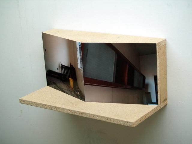 """Untitled I de la serie Intro the Caribbean Modern, 2011, panel mdf, impresión fotográfica adherida, 7"""" x 12"""" x 5"""", Colección José Hernández Castrodad"""