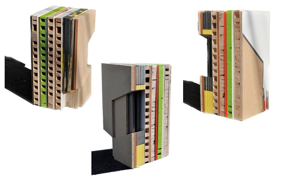 "Reused Northern Trends, 2009, plywood, MDF, puerta de madera semisólida, pintura industrial, 24"" x 11 ¼"" x 12 ¼""."