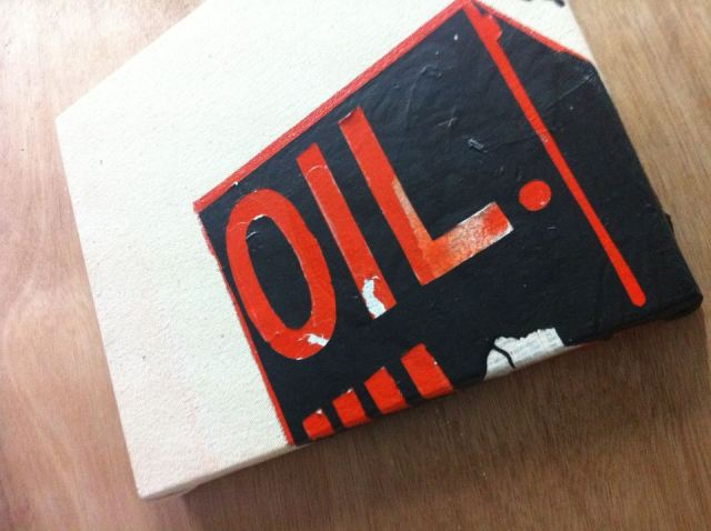 OIL, from the 1898 series, 2013, acrylic on canvas