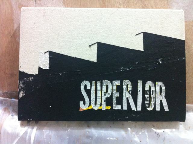Superior, from the 1898 series,  2013, mixed medium on canvas
