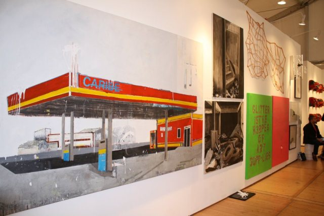 Installation view at Scope New York booth
