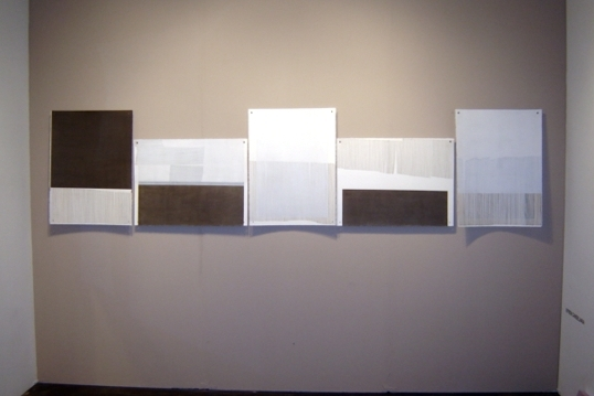 Efrén Candelaria work installation view, booth Photo LA