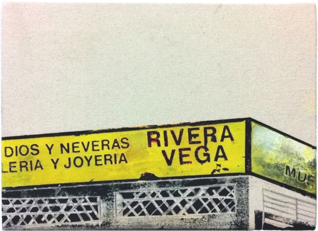 Rivera Vega, from the 1898 series, 2013, mixed medium on canvas