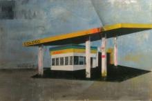 Coloso, from the Fragmentos de isla series, 2013, acrylic, enamel on canvas,