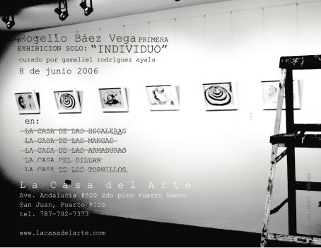 Exhibition invitation back