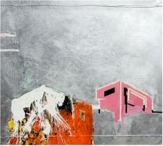 """Untiltled III de la serie Fragmentos de Isla, 2008, acrílico sobre canvas, 52"""" x 60"""", colección particular."""