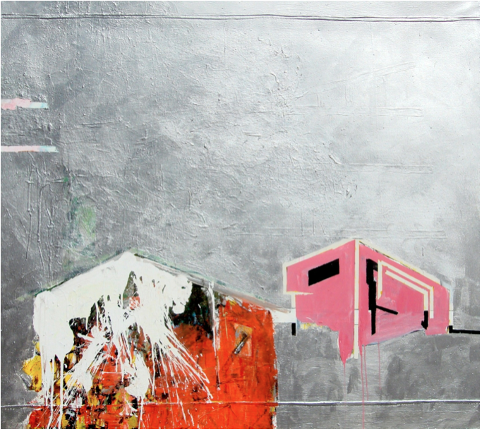 "Untiltled III de la serie Fragmentos de Isla, 2008, acrylic on canvas, 52"" x 60"", private collection."