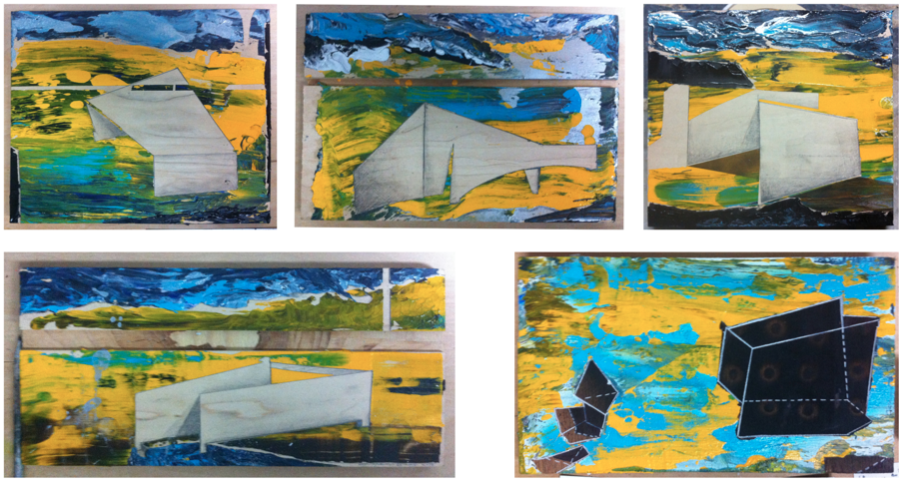 Late landscapes, 2013, acrylic on wood, variable dimensions.