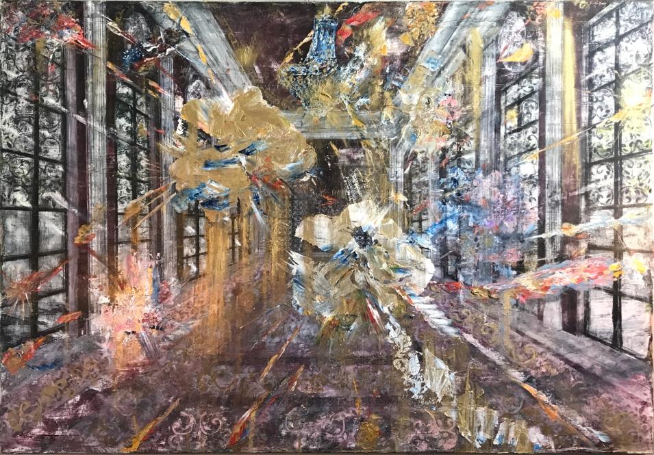flores para fortaleza, de la colonial suites, 2017, óleo sobre cnavas, 50 x 71