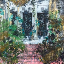 "Governor's Garden from the series Colonial Suites, 2017, oil on canvas, 48"" x 48"""