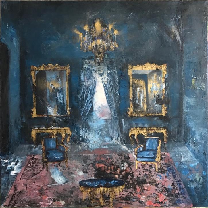 Governor's Mansion - Blue Room, 40 x 40