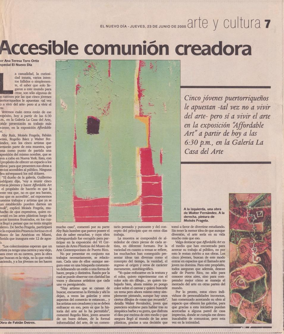 Accesible comunion creadora