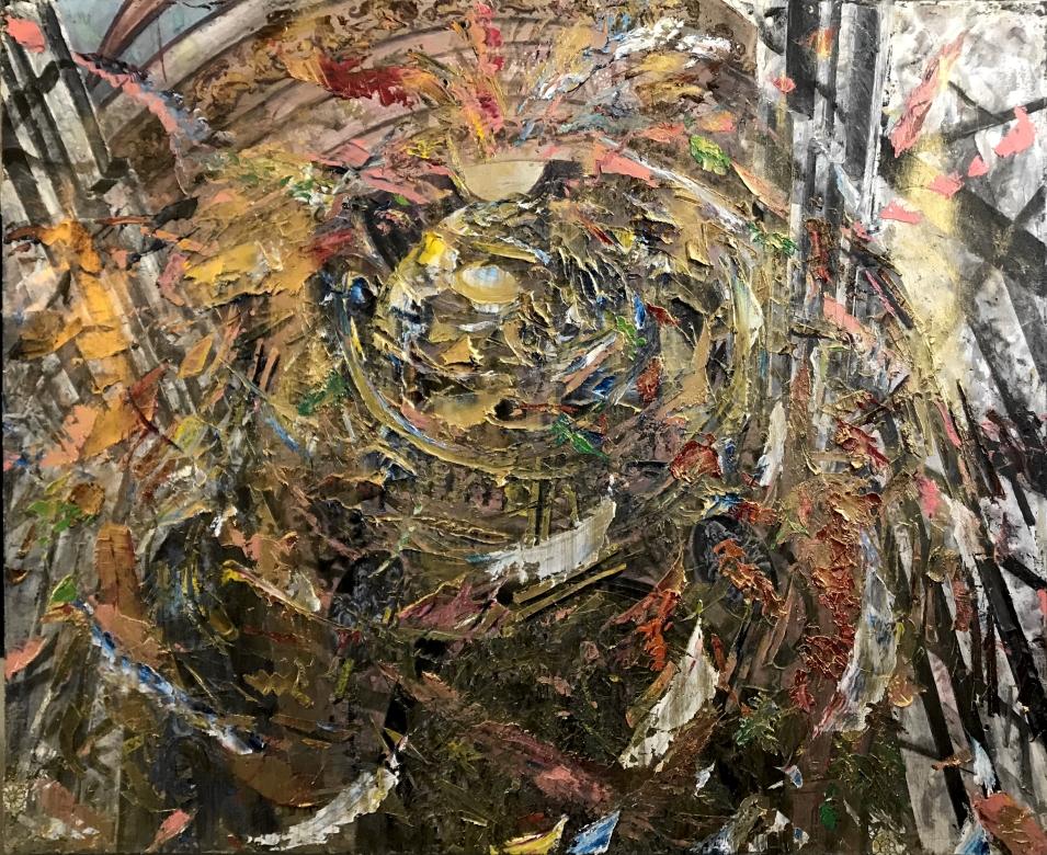 The God's Trompe l'oeil, 48 ¾ x 59 3:4