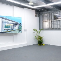 Installation view at Km0.2 exhibition space. Photos by Yiyo Tirado.