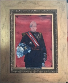 """Colonial Portraits I, 21 ½"""" x 17 ½"""", Private Collection"""