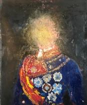 "Colonial Portraits IX, 24"" x 20"", artist collection."